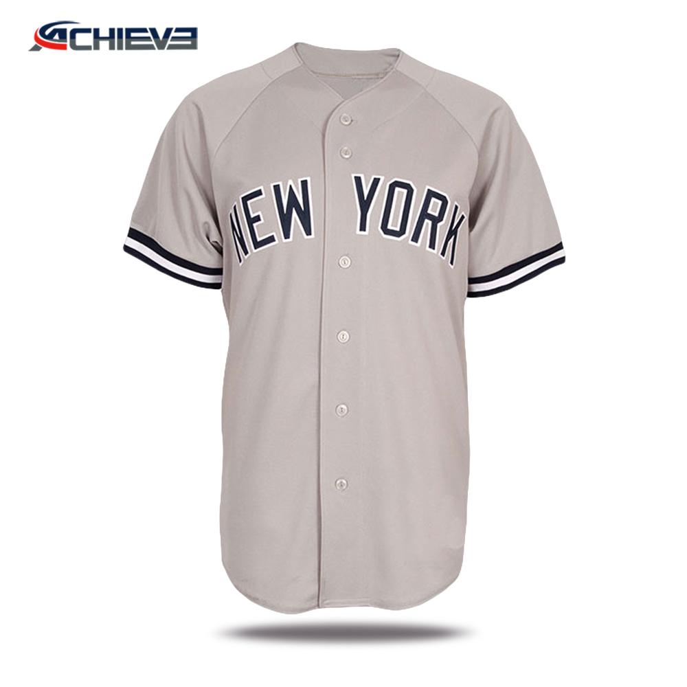 Wholesale Sublimated Baseball T Shirts Custom Tackle Twill Baseball