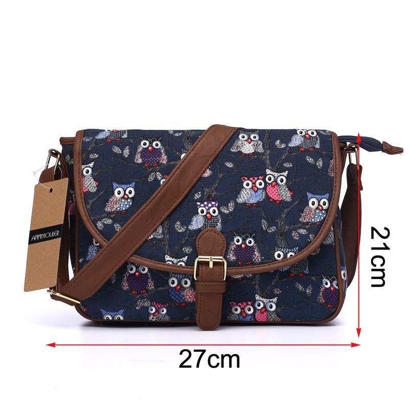 615becbd8 Wholesale Annmouler Brand Women Small Bags Canvas Shoulder Messenger ...