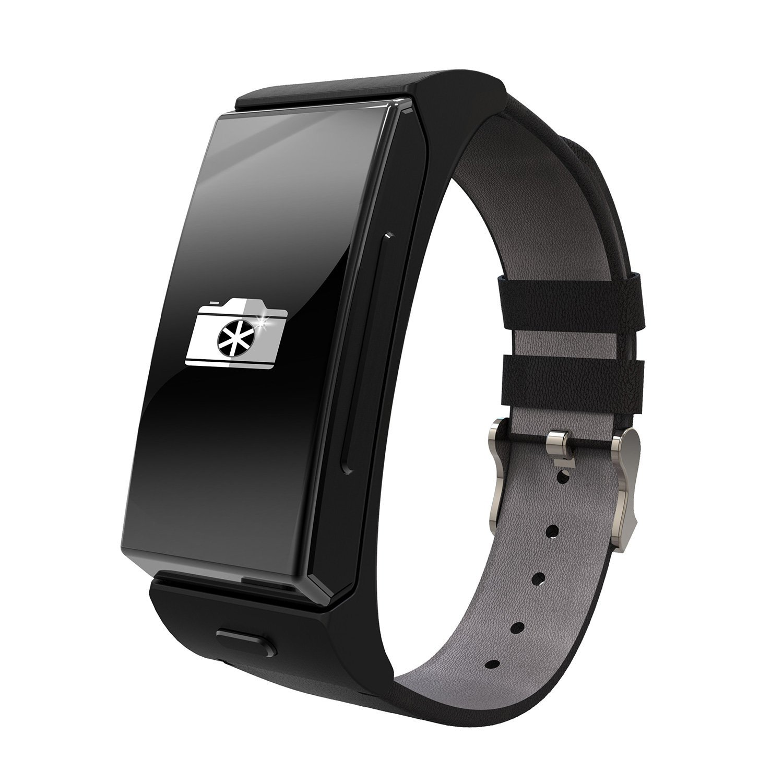 niceEshop(TM) UPad Umini SmartWatch U20 Bluetooth & Headset Personal Smart Wearable Bracelet for IOS & Android Smartphone (Black)