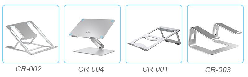 2019 Venda Quente Portátil Dobrável Dj Metal de Alumínio Ajustável Laptop Stand Holder
