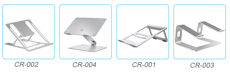 Simples design Dj Portátil Metal de Alumínio Ajustável Laptop Stand Holder