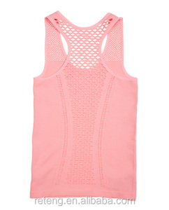 Girl Sexy Gym Yoga Tank Tops Racerback Mesh Breathe Freely Singlets