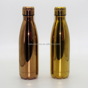 Golden Stainless steel vacuum flask, 18 8 stainless steel vacuum flask