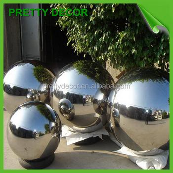 Garden Mirror Polish Large Metal Hollow Spheres Buy Garden