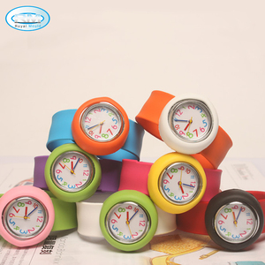 lovely silicone kids slap watch bands watch for children