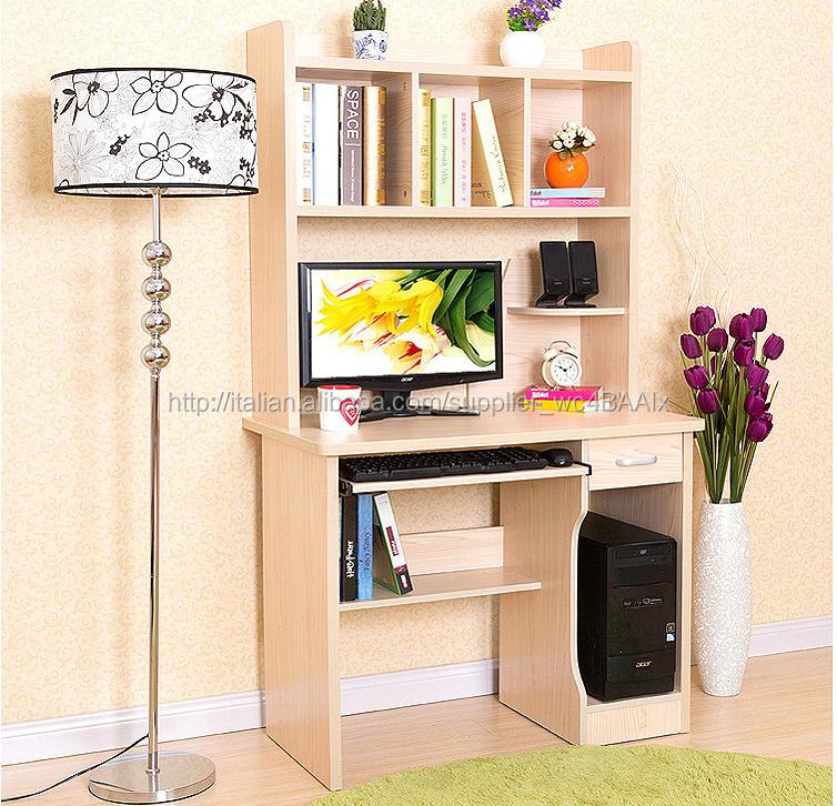 risparmiare spazio home computer scrivania con libreria-Libreria-Id ...