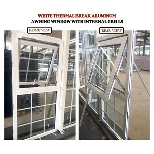 Cheap powder coated finish thermal break aluminium fixed windows american standard double glazing picture window