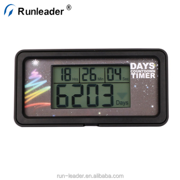 Runleader LCD Digital My Retirement Day Wedding Event Countdown Timer Clock Alarm 999 Days