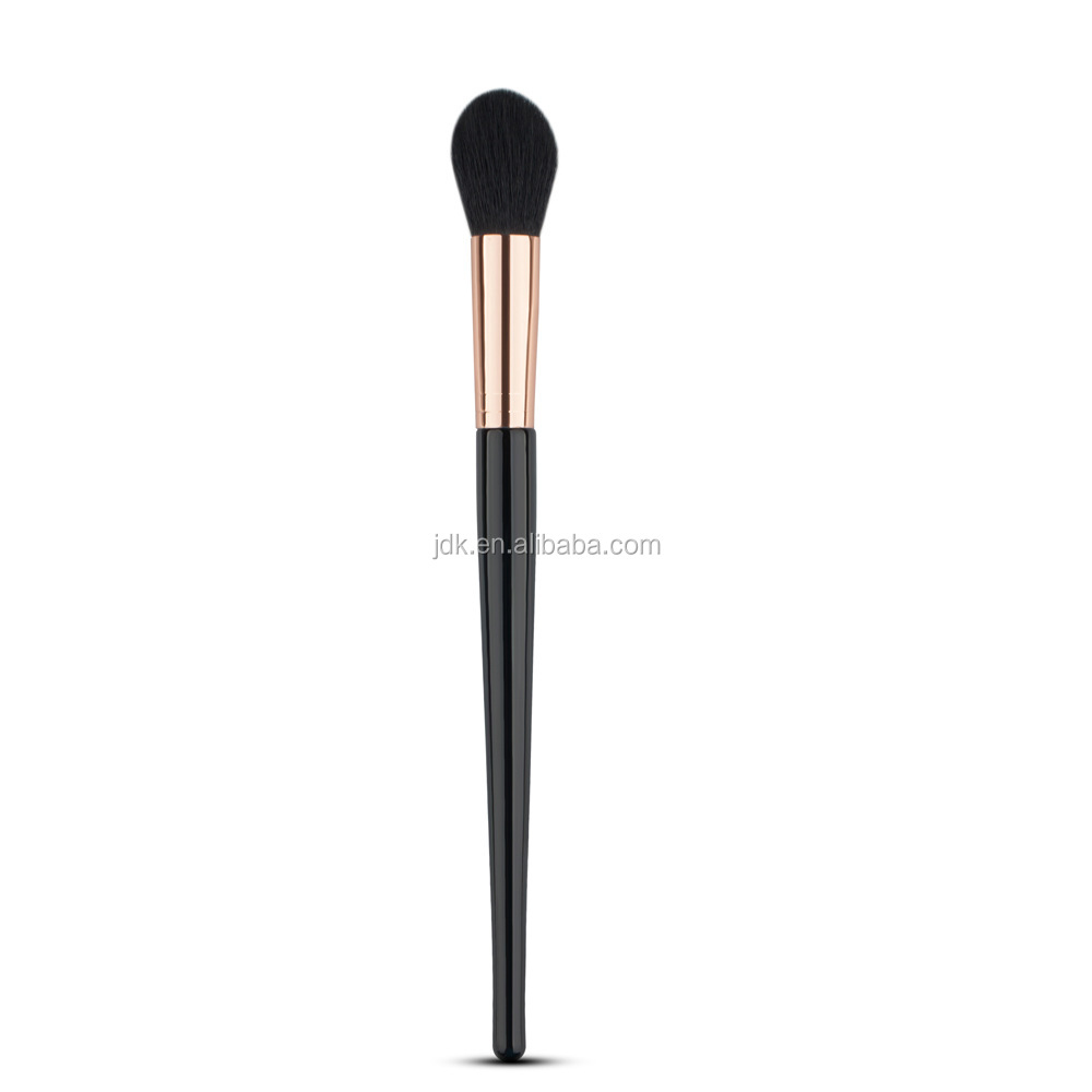 Makeup Rose Gold Black Flame Shape Powder Blush Brush