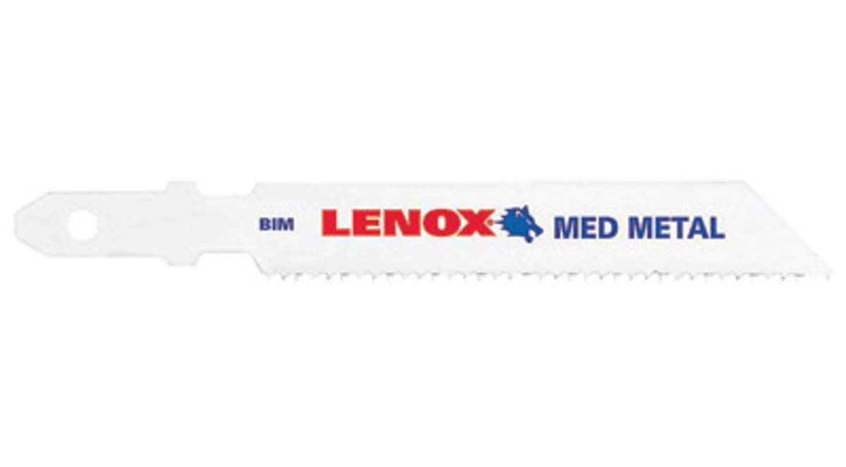 "3 5/8"" X 3/8"" X .037"" Lenox Bi-Metal Jig Saw Blade With 18 Teeth Per Inch (5 Per Pack) - 500 Each/Case"