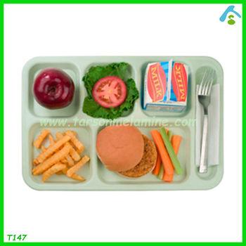 6 compartment melamine food tray melamine plate buy 6 for Cuisine melamine