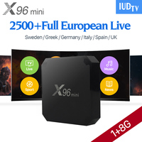 X96 MINI Android 7.1 Smart IPTV Box Android IPTV Arabic TV Receiver Box Italy Set Top Box with 1 Year Europe IUDTV
