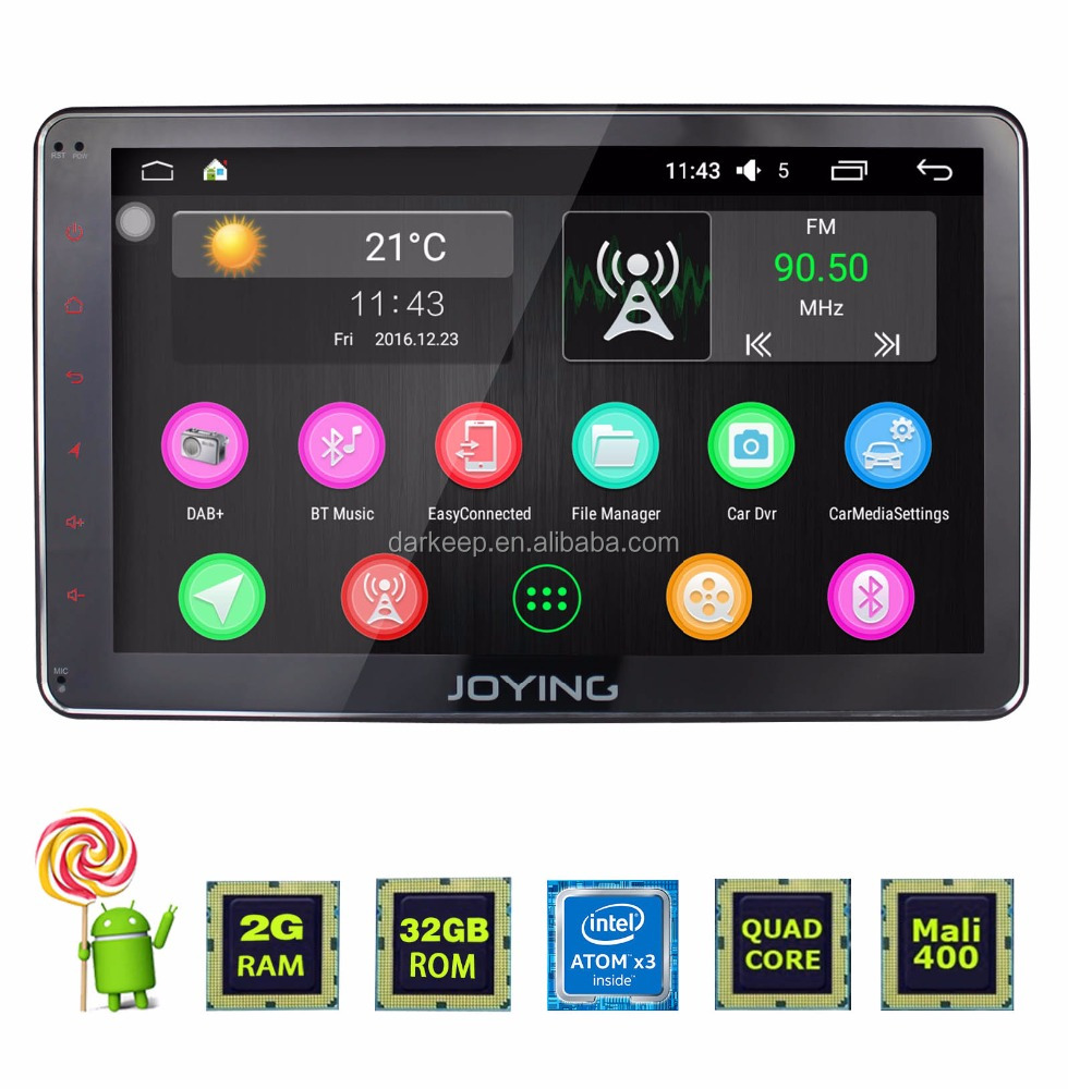 Joying Best Android 6.0 Marshmallow Double Din Car Stereo 10.1inch with gps Navigation