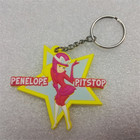 Cheap unique gift ideas 3d custom star shaped soft pvc rubber keychain