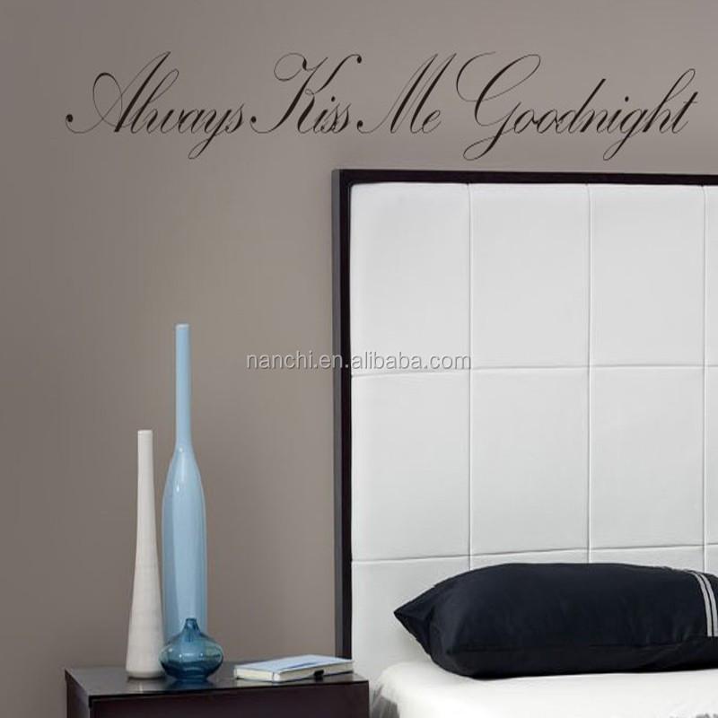 Kus Me Altijd Goodnight Spreuken Muurstickers Slaapkamer Interieur ...