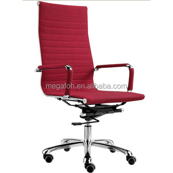 Elegant office furniture rose red swivel wheeled chair for Italy market (FOH-F15-A03)