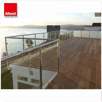 Einfach Installieren Edelstahl Gehartetem Glas Balkon Handlauf Buy