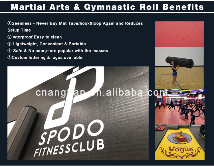 chinese imports wholesale rhythmic gymnastics for sale roll out rolling up wushu carpet mat