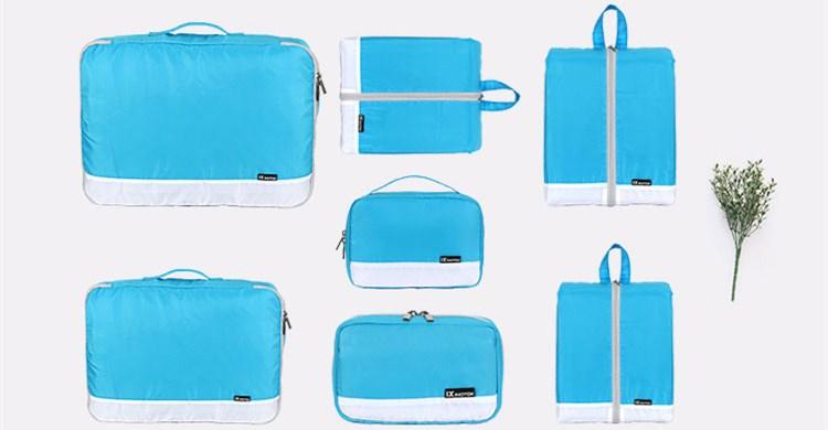 Travel 7pcs Set storage bag travel tote bag custom printed