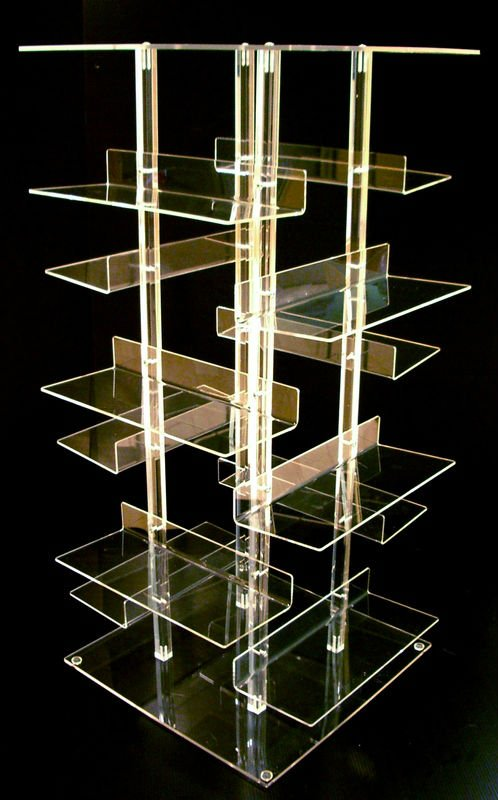 Clear 12-shelves Acrylic Shoe Display Stand (rack /shelf / Holder ...