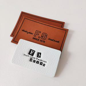 ODM& OEM custom faux product leather labels for jeans