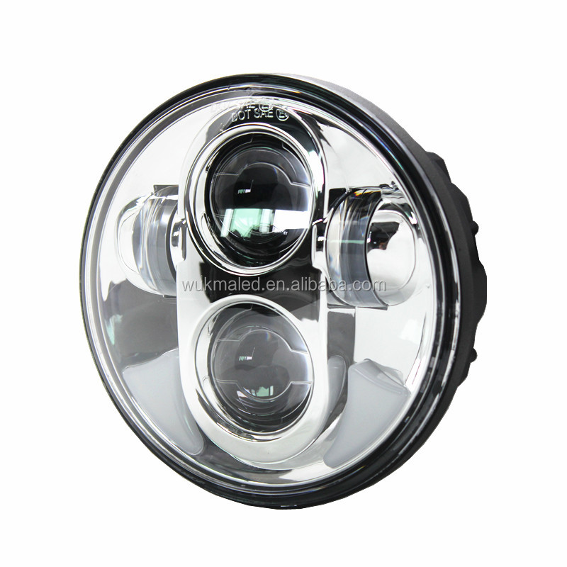 "5.75"" Inch Daymaker Projector LED Headlamp DRL fits Harleys Davidsons Dyna"