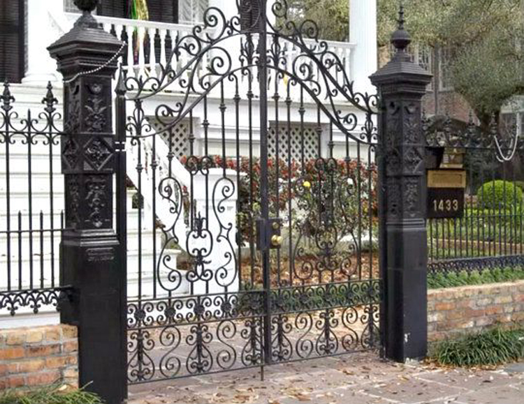 type main house wrought iron grill gate designs