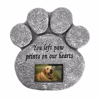 Resin Paw Print Pet Memorial Stone for Pet Dog and Cat Memorial Stone