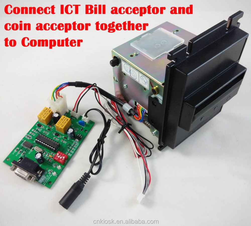Ict Bill Acceptor Pulse Output Coin Acceptor Interface For Kiosk Machine -  Buy Bill Acceptor,Coin Validator,Coin Selector Product on Alibaba com