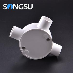 Superior quality Flame retardant round pvc pipe conduit fitting for electric wire diameter 50mm