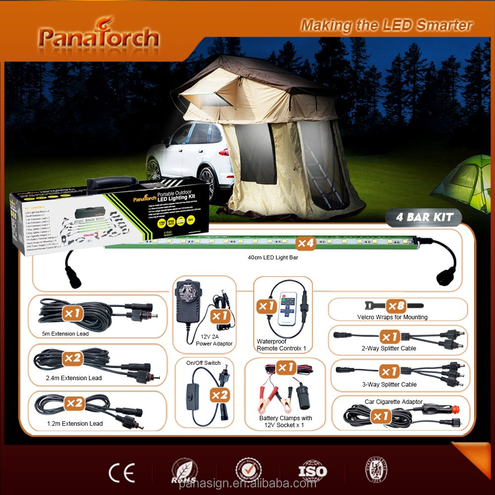 PanaTorch Wireless Remote Led Camping Bar Light PS-C5221B advertising product For caravan
