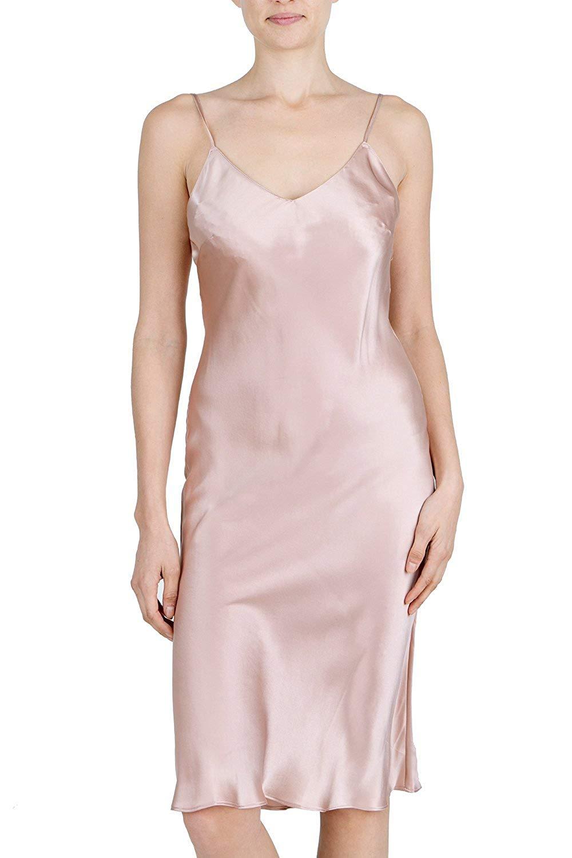Get Quotations · OSCAR ROSSA Women s Luxury Silk Sleepwear 100% Silk Full  Slip Chemise Lingerie Nightgown c8e58ecc6