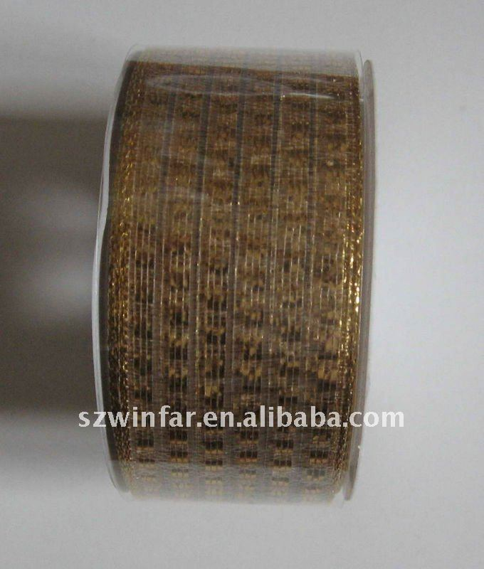 decorative metallic glitter ribbon for wrapping
