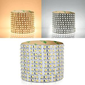 Ninth-City 1200 LEDs Double Row SMD 3528 LED Strip Light - 5 Meters,DC 12V,Non-waterproof,White