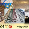 Promotional plastic single spiral wire ring