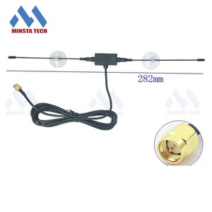 T- Type Car Digital TV Antenna, 6dBi DVB-T ISDB-T TV antenna SMA male connector, wholtesaleTV signal antenna