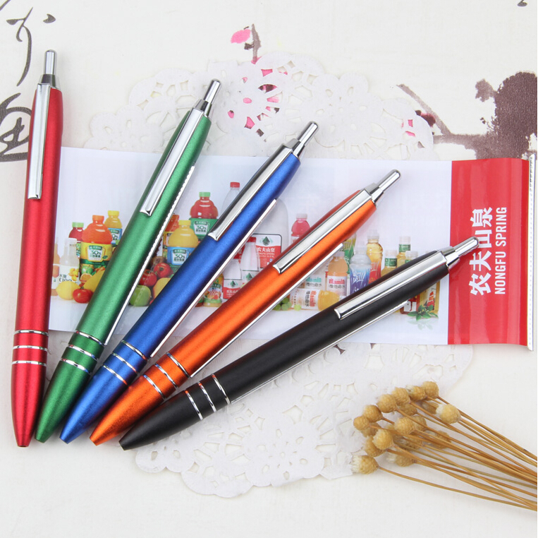 Vip corporate gifts banner metal ball pen Customized Advertising promotion metal pen with roll out paper