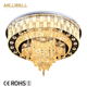 China supplier stainless steel fixture led crystal ceiling light for home decoration