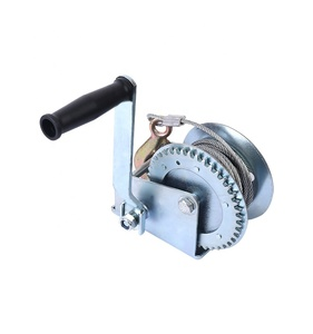 High-quality 1200lbs portable small boat trailer manual hand winch ,cable hand winch,wire rope winch