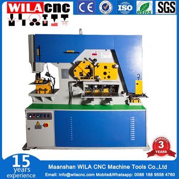 Angle Iron Cutting And Punching Steelworker,Manual Hydraulic Press Machine  - Buy Punching Dies Ironworker,Hole Punch Cutting Machine,Hydraulic Press