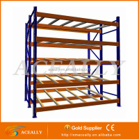 Roller storage racking pallet flow