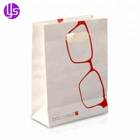 Wholesale Custom Cheap Die Cut Patch Handle Pantone Color Printing Small Craft White Kraft Paper Gift Packaging Bag for Sale