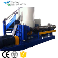 PE PP hdpe flakes price recycle plastic granulating pelletizing producing line has high efficiency in making granules