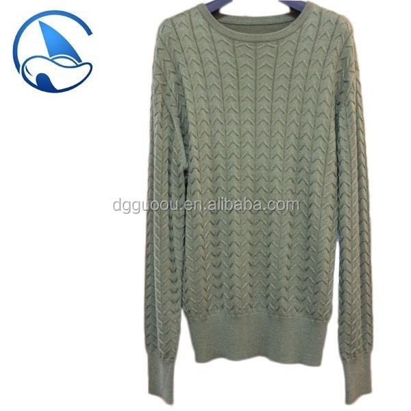 cable sleeve men's jumper sweater