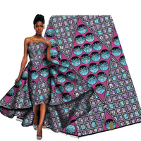 High class Ankara flower prints style Nigeria cotton wax material for sewing