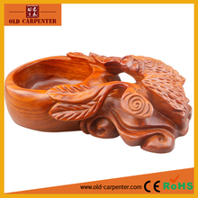 Luxury Artificial with natural Rosewood Bat animal shape wholesale wooden funny ashtray