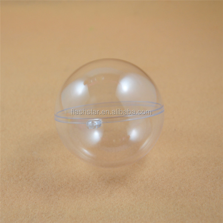 Diameter 10cm , 5cm plastic clear Christmas ball/ ornament