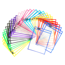 Accepted Customized Logo Reusable Dry Erase Pockets Sleeves For Office Supplies