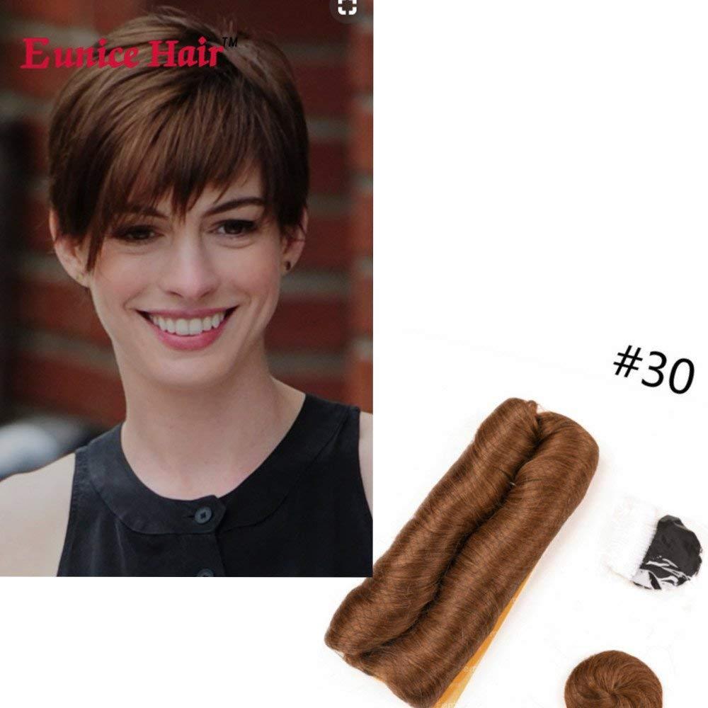 Get Quotations Eunice Hair 28 Piece 30 Human Weaves With Top Closure Brown Brazilian Virgin