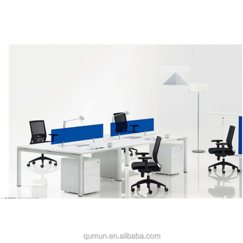 Office Furniture White Laminate Desk Parion Work Screen Made In China